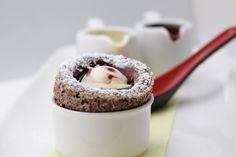 Make this delicious Chocolate Souffle... recipe from Disney Cruise Line's Palo restaurant. #cruiserecipes