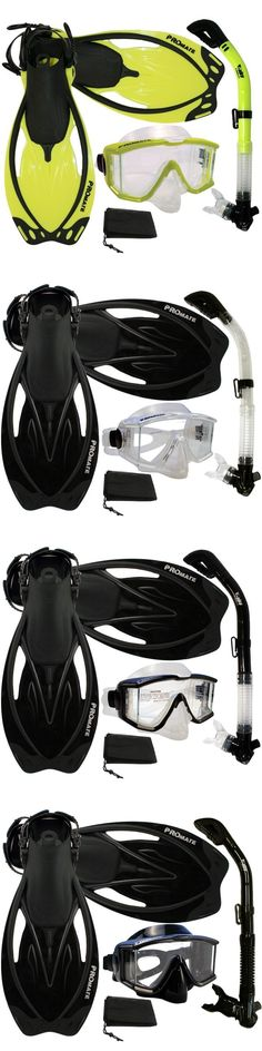 Snorkels and Sets 71162: New Panoramic Purge Mask Dry Snorkel Fins Dive Gear Set -> BUY IT NOW ONLY: $59.95 on eBay!