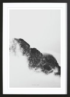 Mountain as Framed Poster by The Wall Shop | JUNIQE