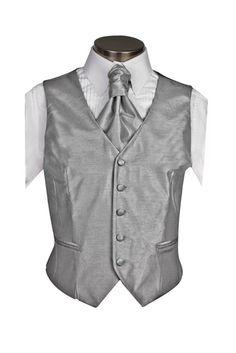 Waistcoat,Silver Gray,Silver Gray Poly Dupion Waistcoat,Vest