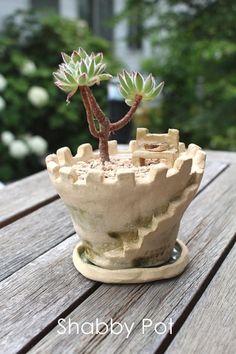 お城の植木鉢   iichi(いいち)  ハンドメイド・クラフト・手仕事品の販売・購入