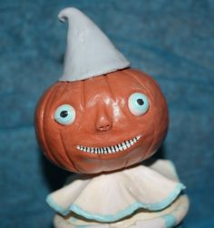 Pumpkin Clown Boy by WoollyGhoulie on Etsy