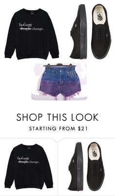 """""""its true they do"""" by crimsonblood13 ❤ liked on Polyvore featuring Vans"""
