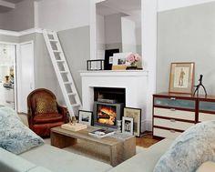 Tiny New York apartment via Domino