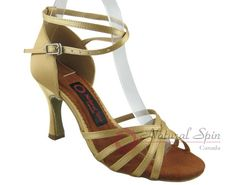 Natural Spin Latin Shoes(Open Toe):  M1101-01_FleGoCS