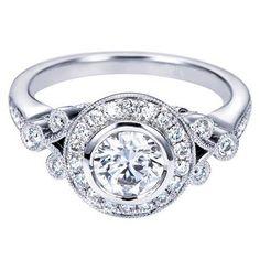 "Ben Garelick Royal Celebrations Antique Style ""Sarah"" Engagement Ring · ER4156W44JJ · Ben Garelick Jewelers"