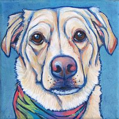 6 x 6 Custom Pet Portrait Painting in Acrylic by bethanysalisbury, $60.00