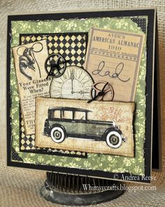 This wonderful Father's Day card is by @Andrea Callich Reese where she combined a few of our collections to make this amazing card. Beautiful! #graphic45 #cards