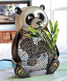 "What looks like whimsical room decor is really a Panda Fan. I'm a ""Panda fan"""