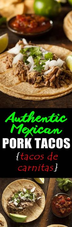 Want an authentic, delicious and best of all easy recipe for Tacos de Carnitas (Pork Tacos)? Crispy succulent pieces of pork are slowly braised with fragrant spices, fresh orange juice and beer only to be
