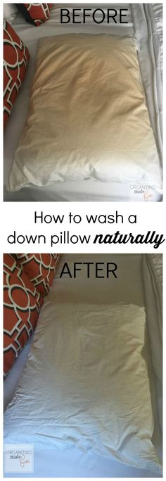 How to wash a down pillow naturally :: OrganizingMadeFun.com
