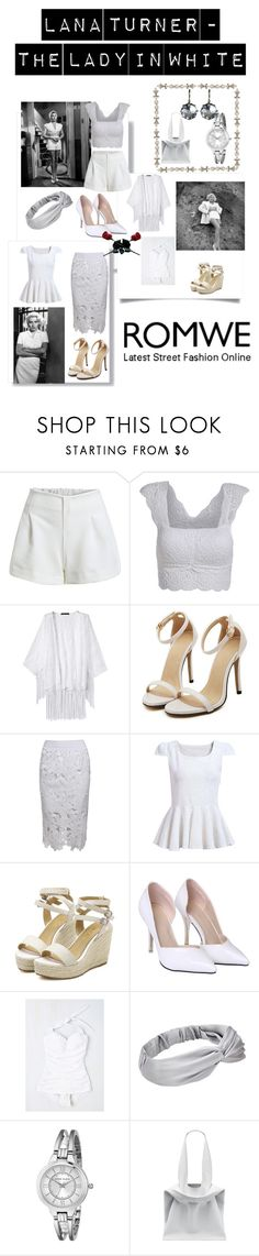 """""""Romwe - Lovely Lana Turner"""" by jostockton ❤ liked on Polyvore featuring Esther Williams, Jill Alberts, Anne Klein and Jil Sander"""