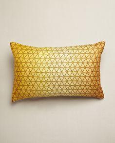 Design Trends 2013: Yellow - ELLE DECOR - Gold Ombre Cushion - Nitin Goyal