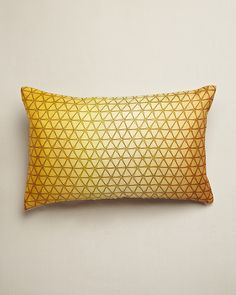 Design Trends 2013: Yellow - ELLE DECOR - Gold Ombre Cushion - Nitin Goyal
