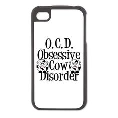 Obsessive Cow Disorder iPhone 4/4S Switch Case on CafePress.com