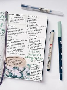 Bullet journal inspiration — oikawastudies: old spread but i keep forgetting... Cool Diy, Bullet, Cool Crafts, Bullets