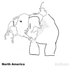 A funny map of North America