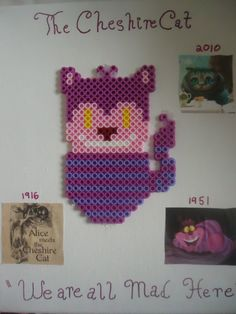 The Cheshire Cat Alice in Wonderland perler beads by PerlerHime