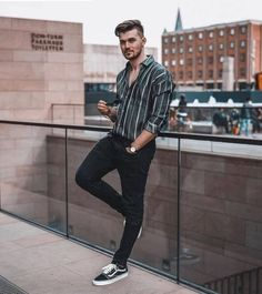 50 best spring outfits casual menswear mens fashion & mens f Outfit Jeans, White Polo Shirt Outfit, Tucked In Shirt Outfit, Polo Shirt Outfits, Casual Outfits, Men Casual, Beach Outfits, Casual Menswear, Men's Outfits