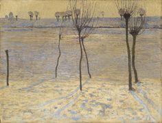 Max Clarenbach (German, 1880-1952), Winter Landscape in the Niederrhein. Oil on canvas, 50.5 x 66 cm.