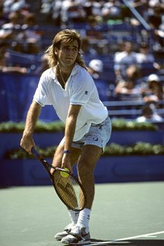 official photos 6e649 8239b Andre Agassi (USA) - 1989 US Open