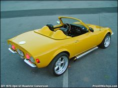1970 Opel Gt Roadster Conversion Lemon Yellow