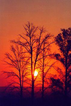 Puesta de sol en Aguascalientes