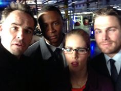 When the Arrow cast decides to go out and drink all night then come back onto the set.