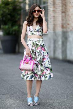 Modne sukienki wiosna lato 2015 - street fashion, fot. Imaxtree