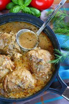Kurczak duszony w sosie jogurtowym z ziołami | sio-smutki! Monika od kuchni