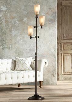 the libby 3 light floor lamp includes nostalgic edison bulbs for an rh pinterest com