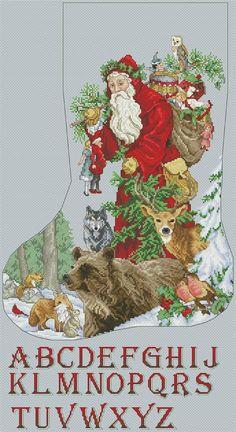 Santa Cross Stitch, Cross Stitch Christmas Stockings, Cross Stitch Stocking, Cross Stitch Fairy, Cross Stitch Angels, Free Cross Stitch Charts, Counted Cross Stitch Patterns, Blackwork Cross Stitch, Cross Stitch Embroidery