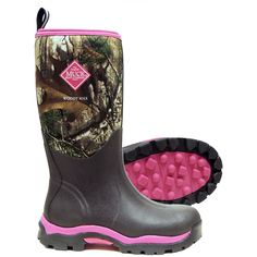 Own these boots and love 'im! best mud boots I've ever owned!!!! Women's Muck Boots Woody Max Hunting Boots, RT XTRA PINK, 6M