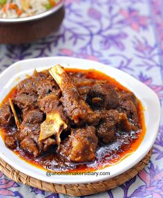 A Homemaker's Diary: Mutton Kasha (Spicy curried Goat Meat/ bengali style Bhuna Gosht)