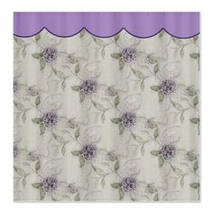 Lilac Flowers Fabric Shower Curtain