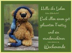 Greeting Cards, Teddy Bear, Motivation, Happy, Animals, Gb Bilder, Humor, Good Morning Wednesday, Good Morning Wishes