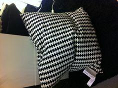 Ikea STOCKHOLM Cushion, black, white $12.99