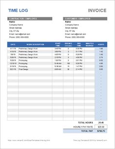 Download the Time Log Template from Vertex42.com Timesheet Template, Consumer Survey, Collage Template, Keyboard Shortcuts, Invoice Template, Company Names, Property Management, Social Work, Business Templates