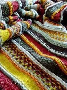 Ravelry: Autumn Haze pattern by Brenda York. The stocking stitch/ garter stitch pattern looks like the cardi I'm making