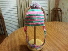 Crocheted beanie