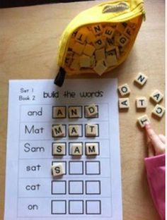 Repurpose those letter tiles from Scrabble or Bananagrams! ~ Vanessa pinned with Pinvolve