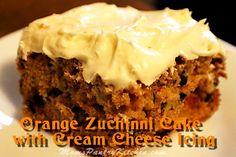 Orange Zucchini Cake with Orange Cream Cheese Icing - Mom's Kitchen Pantry