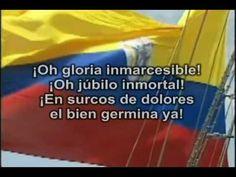 HIMNO NACIONAL DE COLOMBIA Colombia South America, Geography, World, Youtube, Panama, Editor, Homeschooling, Soccer, India