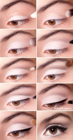Eye make up. Liking the white eyeshadow Simple Eye Makeup, Love Makeup, Makeup Looks, Easy Makeup, White Makeup, Stunning Makeup, Makeup Style, Pretty Makeup, Beauty Make-up