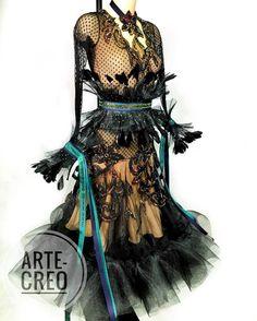 """942 Likes, 6 Comments - ARTE-CREO (@artecreo) on Instagram: """"Платье для европейской программы танцев выполнено в ателье @artecreo // На платье использовались…"""""""