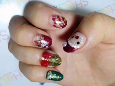 【かわいいネイル】クリスマスネイル2013はこれで決定!! 激カワゆるきゃら「サンタネイル」の簡単つくり方♪