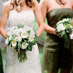 Brides.com: Cydney & Bennett in Jackson Hole, WY. Cydney chose locally grown ranunculus and sage, as well as garden roses, for her bouquet.