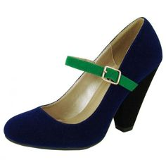 Rico 22 Shoe - nix that green strap for a perfect shoe UNLESS my dress has that green in it
