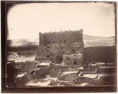 Gate of the courtyard of the Temple of Bel, Palmyra, Syria, Louis Vignes, 1864