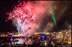 Feuerwerk beim 824. Hamburger Hafengeburtstag